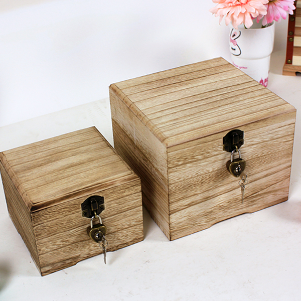 Lockable Storage Box For Za Kka Wooden Box Large Wool Stationery Desktop  Finishing Box Miscellaneously In Storage Boxes U0026 Bins From Home U0026 Garden On  ...