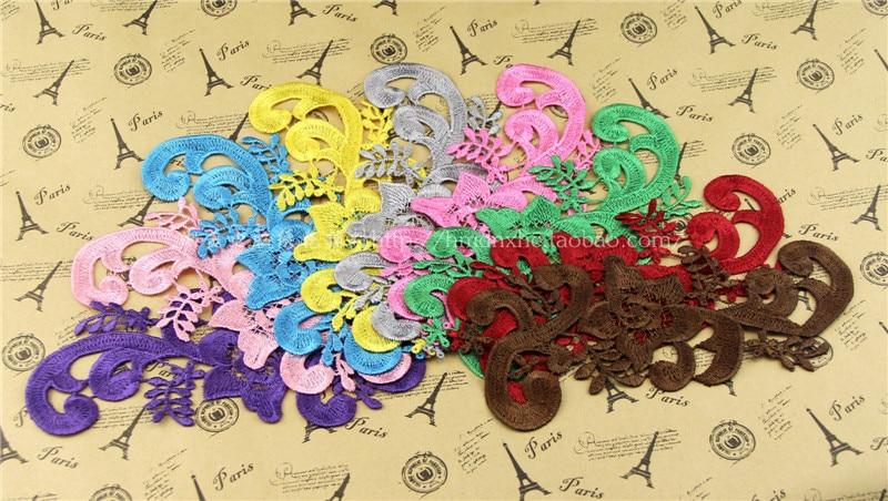 Acheter YACKALASI 10 Pcs 3D Fleur Brodé Appliqued À Coudre Vêtements Patches Blanc Noir Dentelle Floral Vintage Multi Couleurs 18 9 cm de vintage floral fiable fournisseurs