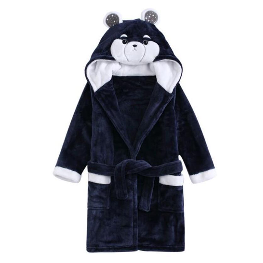купить flannel pajamas for children sleepwear child boy bathrobe girl roupao winter warm bath robe for kids christmas pajamas for boy по цене 1334.79 рублей