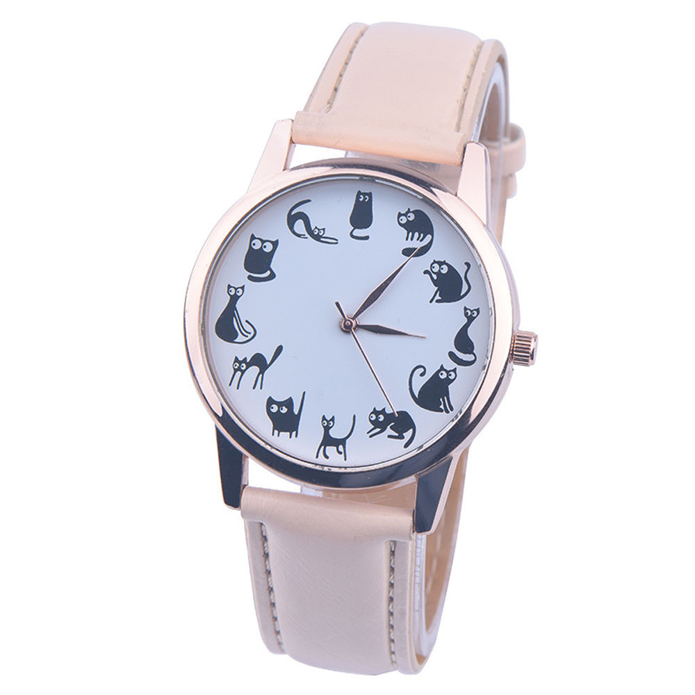 watches women fashion watch 2018 luxury brand Cute small cat PU Leather Band Analog Quartz Vogue Wrist Watches relojes mujer high quality 2017 new design luxury brand man watch unisex fashion pu leather band quartz analog wrist watches watch hot sale