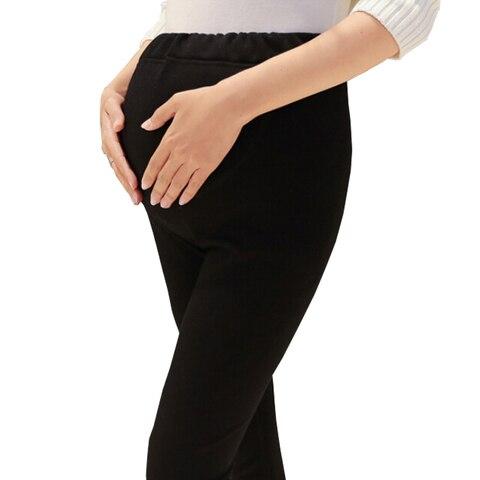 plus size alem de veludo espessamento outono inverno leggings maternidade calcas para mulheres gravidas quente
