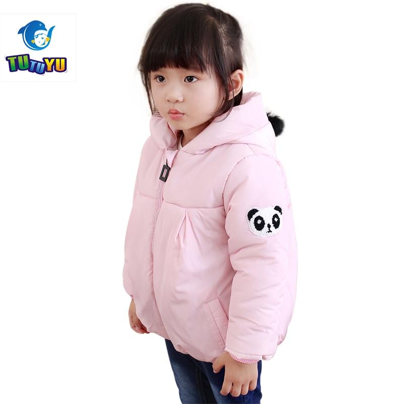 TUTUYU Children Baby  Winter Jacket for Girls Fashion Soild Panda Outerwears Red Down Coat Boys Padded Jacket Warm Cotton Coat
