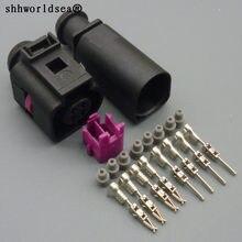 Shhworldsea 1 sets 4pin 1,5mm wasserdichte auto draht harnes männlichen weibliche anschlüsse 4B0 973 812 4B0 973 712