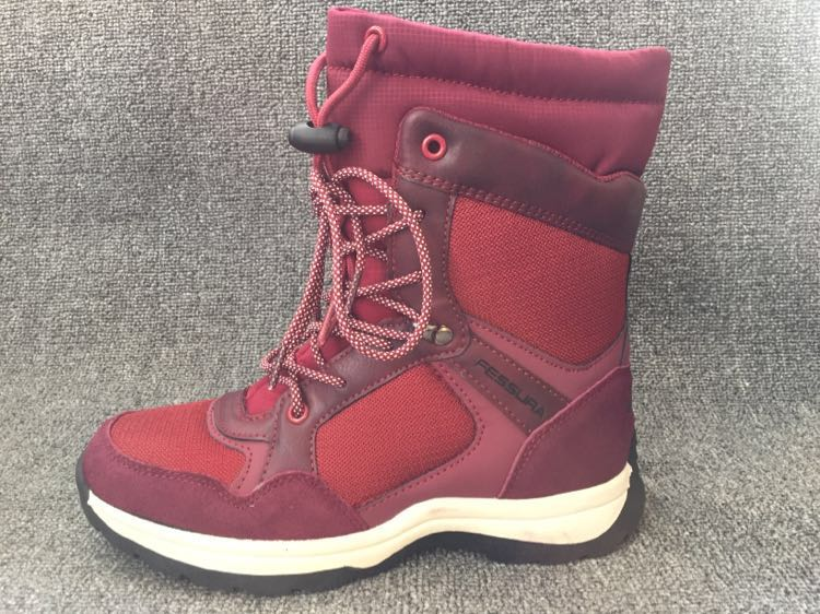 NEW 2017 Gilrs Snow Boots Genuine Leather Warm Non-slip Children Shoes Outdoor Fashion For Girls & Women kelme 2016 new children sport running shoes football boots synthetic leather broken nail kids skid wearable shoes breathable 49