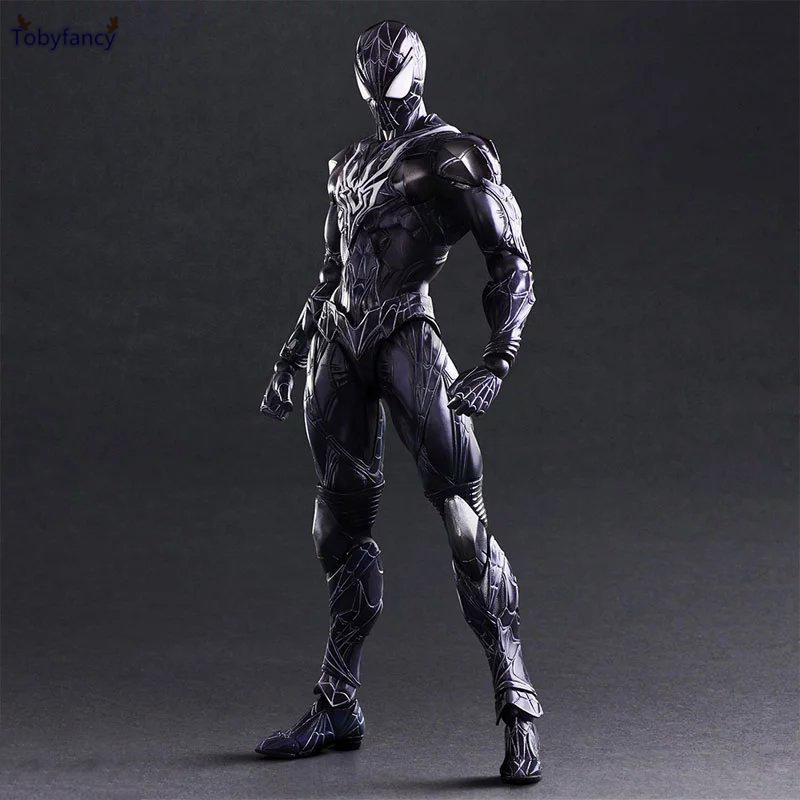 цены Tobyfancy Blue Spider Man Action Figure Play Arts Kai Collection Model Anime Toys Amazing Spiderman PA Kai Spider-Man