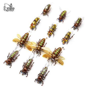 цена на For fishing Dry Fly Fishing Flies Set Fly Tying Kit Lure 12pcs 6# 8# bee Realistic Insect Lure for Rainbow Trout Flies