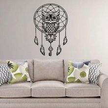 Animal Patter Dreamcatcher Wall Sticker Removable Creative Dream Catcher Poster Murals Bedroom Decoration AY776