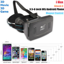 for  II Head Mount Plastic Version 3D VR Virtual Reality Glasses Google Cardboard 3D Movies 3D Games For 3.5″-6″ Phones