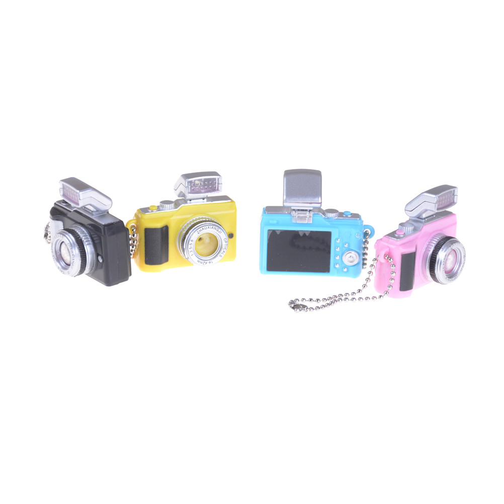 1 Pcs LED Flashing Mini Camera For BJD Doll DIY 1/4 1/3 Dod . As . Dz . Sd Cameras Toy Key Chains Toys Sound Gift