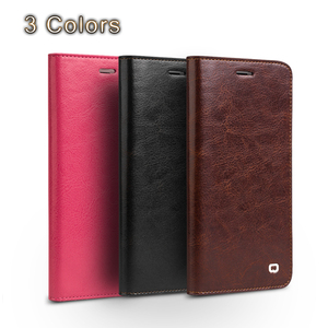 Image 3 - QIALINO Case for iPhone 7 Handmade Genuine Leather Wallet Case for iphone 7 plus luxury Ultra Slim Flip holster