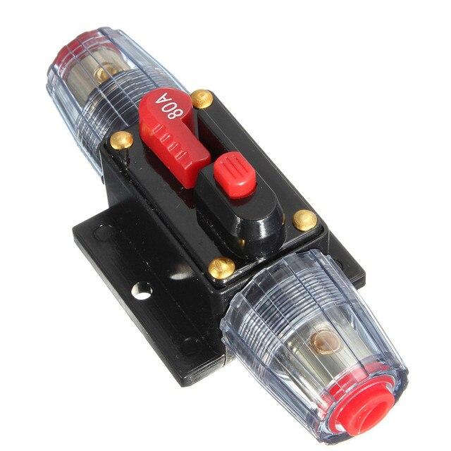 DC V V Voiture Stereo Circuit Disjoncteur Porte Fusible - Porte fusible 12v