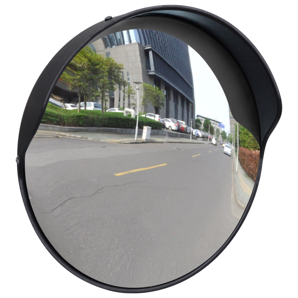 KKMOON 30 cm Wide Angle Curved Convex Security Road Mirror For Indoor Burglar Traffic Signal Roadway Safety ...