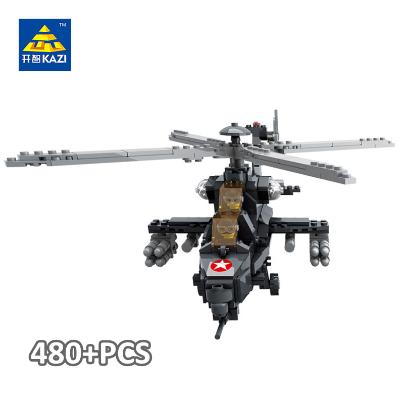 KAZI Military Army Helicopter 3D Block Model Building Toy Set for Kid Educational Brick Toys Compatible with lego kazi military building blocks army brick block brinquedos toys for kids tanks helicopter aircraft vehicle tank truck car model