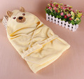 2016 Hot Sale Freeshipping Flannel Baby Aniamal Blankets Newborn Swaddling Wraps Holds Parisarc Newborn Sleeping Bag Sleepsack