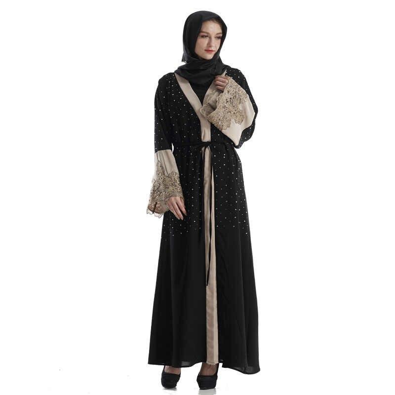 2019 נשים העבאיה קימונו דובאי טורקיה מוסלמי חיג 'אב שמלת Jilbab קפטן Marocain Tesettur Elbise תורכי אסלאמי בגדי הרמדאן
