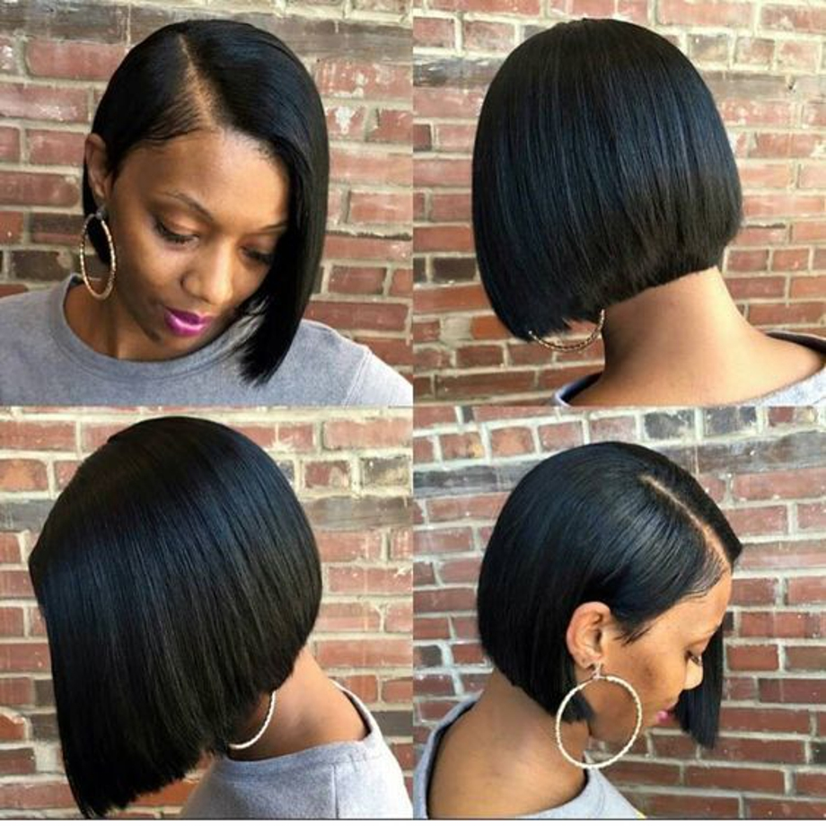 Short Lace Front Human Hair Wigs For Black Women Brazilian Straight Remy Bob Wig Lace Frontal