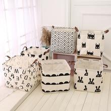 Холщовая Сумка для хранения многофункциональная складная Одежда детская корзина для игрушек Домашний Органайзер Бытовая корзина для хранения мелочей корзина для белья