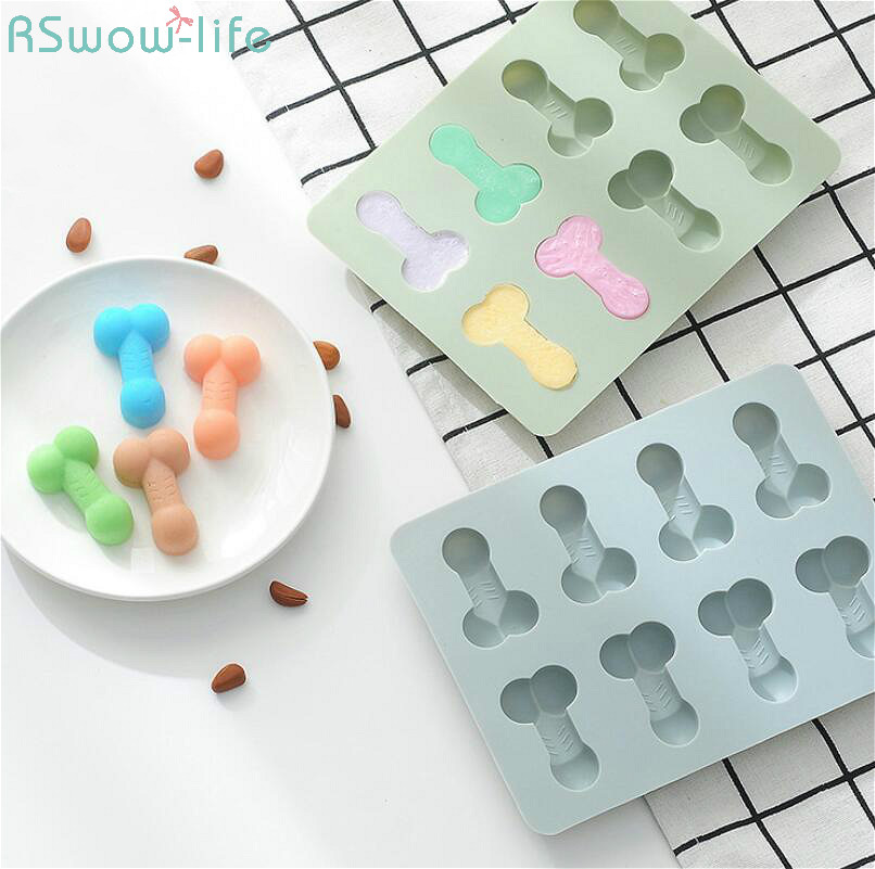 Creative 8-Grid Birthday Party Cake Mould Chocolate Ice Lattice Silica Gel Manual Soap For Adult Maker Fun