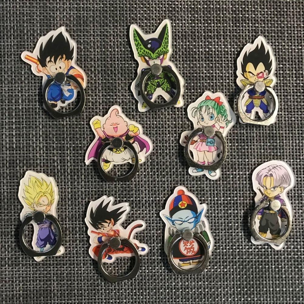Dragon Ball Super Toys Son Goku/Gohan/Zen O/Jaco/Trunks/Mai/Zamasu Mobile phone Ring finger bracket Cartoon Toys