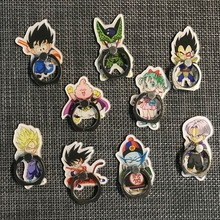 Dragon Ball Super Toys Son Goku/Gohan/Zen O/Jaco/Trunks/Mai/Zamasu Mobile phone Ring finger bracket Cartoon Toys стоимость