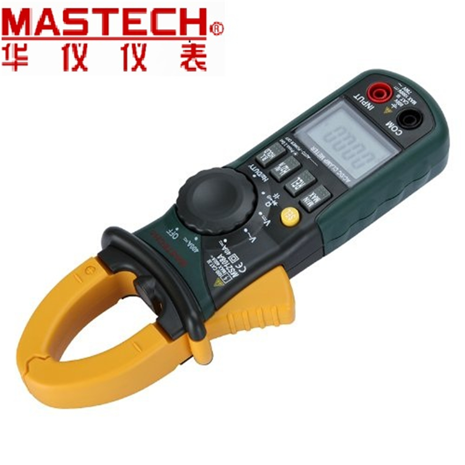 Mastech MS2108 Digital AC/DC Clamp Meter Multimeter LCD Display True RMS Auto/Manual Range Current Voltage Frequency Meter mastech ms8211d pen type digital multimeter manual auto range