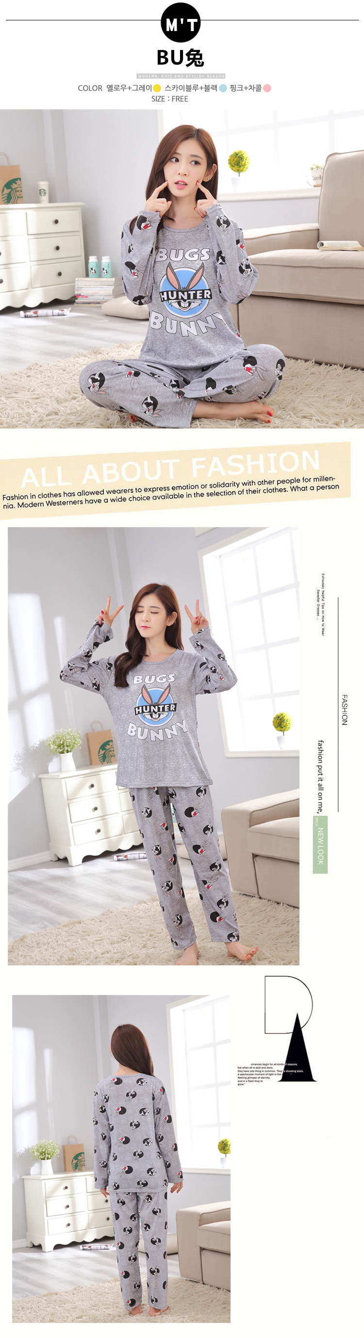 Spring Autumn 20 Style Thin Carton Generation Women pajamas Long Sleepwear Suit Home Women Female Sleep Top Wholesale Pajamas 21