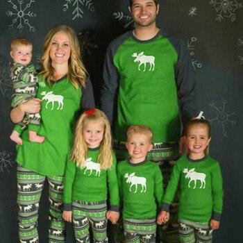 Familia Pijamas De Navidad Set Adultos Ninos Ninas Chico Dormir