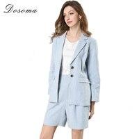 DOSOMA Blazer Shorts Suits For Women 2018 Spring Plus Size Women S Two Pieces Sets OL