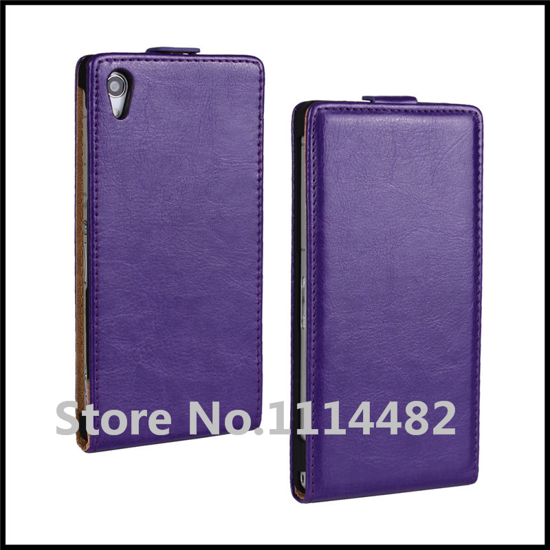 Flip Crazy Horse <font><b>Case</b></font> Cover for <font><b>Sony</b></font> <font><b>Xperia</b></font> <font><b>Z2</b></font> Cell <font><b>Phone</b></font> <font><b>Case</b></font> with Different Colors + free shipping