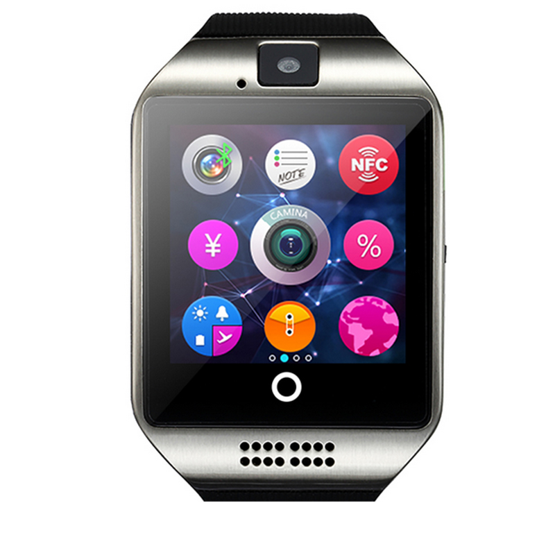 Fashion font b SmartWatch b font Q18 with Touch Screen Camera TF Card Bluetooth Support NFC