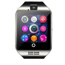 Mode smartwatch q18 mit touchscreen kamera tf karte bluetooth unterstützung nfc sim-karte gsm videokamera für iphone android/iso