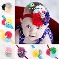 baby girl headbands Infant girls Flower Headbands chiffon flower Newborn toddler shabby chic roses headband