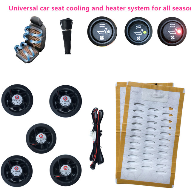 Upgrade Car Interior Seat Cooling 5 Fans And Heated Covers Four Seasons Warm Cool