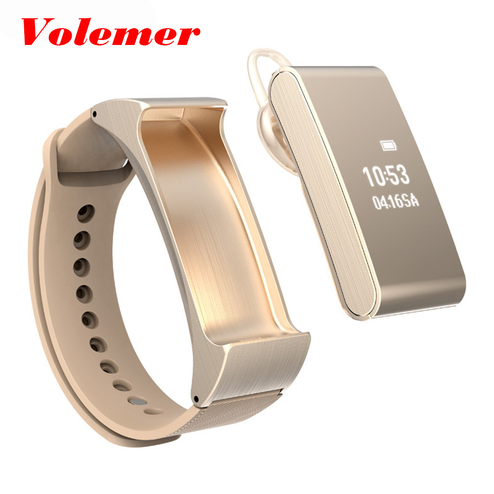 Volemer Smart Wristband Talkband iBand M8 Smart Band Bracelet Bluetooth Headset Headphone Smart Health Watch for IOS Android original huawei talkband b2 health smart bracelet band