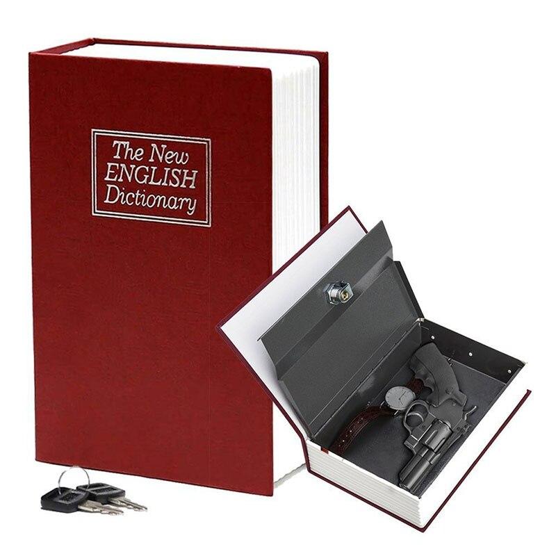 NEW Money Box Coin Piggy Bank Safe Box Dictionary Diversion Book Saving Box with Key Loc ...