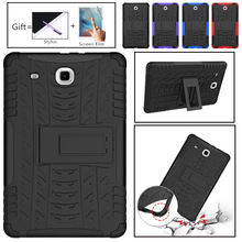 For Galaxy Tab Amor Heavy Duty Silicone Hard PC Shockproof Case Stand Tablet Cover For Samsung Galaxy Tab E 9.6 T560 T561 9.6