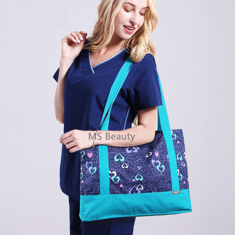Print Design Medical Nursing Bags Doctors Nurses Shoulder Bag Handbag Multi-function Storage Bags Hospital Bags Accessories