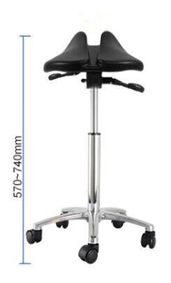 Multi Adjuster Ergonomic Swing Saddle Seat Multi functional Back Posture Stool with Tilting Seat Saddle Chair For Dental Office