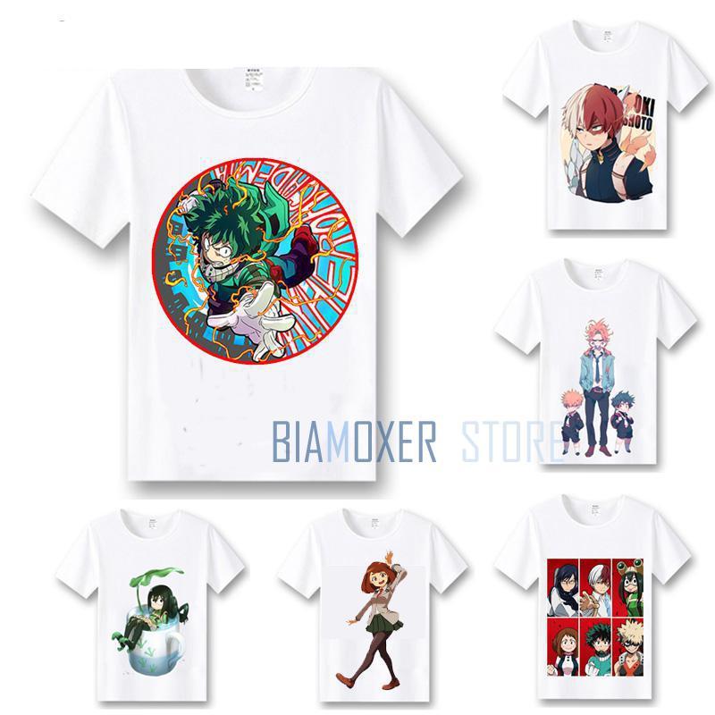 Biamoxer My Hero Academia T shirts Cosplay Costumes Boku No Hero Academia T-shirts Izuku Midoriya Men Women Summer Tees Tops
