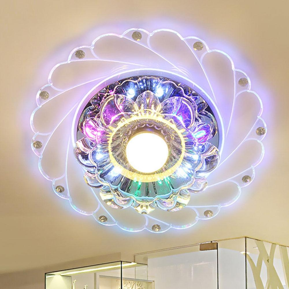 New Crystal LED Colorful Lighting Living Room Ceiling Fixture Chandelier Decor Light Interior Design Modern Fashion