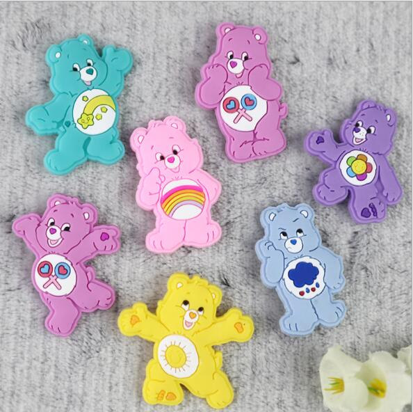 Creative cartoon PVC badges Childrens brooch beautiful safety pins the Care Bears brooch