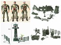BOHS 5 Joints Movable Soldier Boys Watch Tower Military Model Simulation Toy