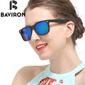 BAVIRON Convex Lenses Vintage Sunglasses Polarized Sunglasses Unisex Oval Casual Glasses Lime Green Durable Eyewear 55 mm 2140