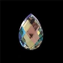 180 stks/partij 38 MM Amandel Crystal AB Kleur Prism/Crystal Ornament/Crystal Hanger Gratis Verzending!