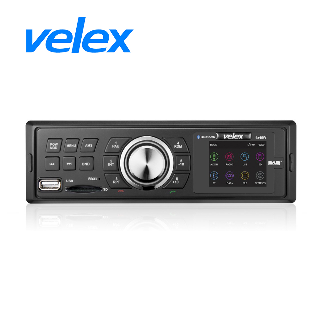 Car DAB+ Receiver, Bluetooth Audio Streaming, 4 X 45W Power Output, TFT display, AM/FM tuner image