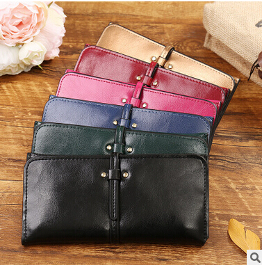 The new summer purse vertical section square contracted and women wallet lady slim long purse