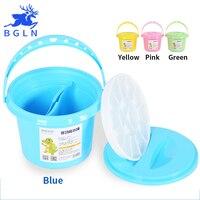 Bgln Painting Brushes Washing Bucket For Watercolor Brush Multifunction Pen Barrel Brush Washer Oil Acrylic Tool