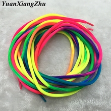 1 Pairs Rainbow Round Rope Canvas Athletic Shoelace Sport Sneaker Shoe Laces Strings 100CM 120CM YC-1 все цены