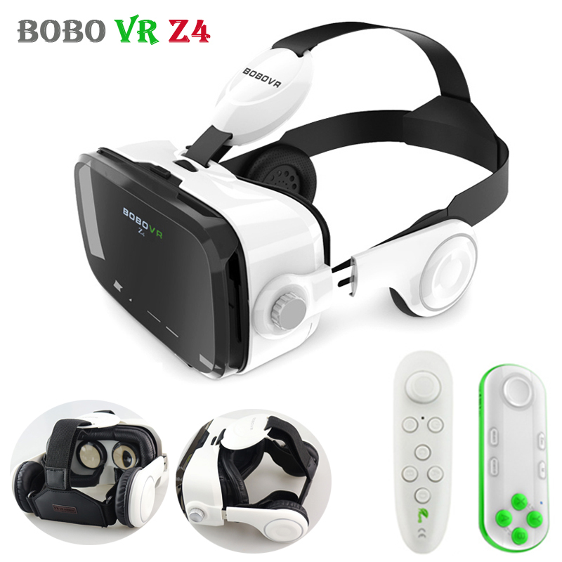 Original BOBOVR Z4 Leather 3D Cardboard Helmet Virtual Reality VR Glasses Headset Stereo Box BOBO VR for Android Smartphone 4-6' original vr virtual reality 3d glasses box stereo vr google cardboard headset helmet for ios android smartphone bluetooth rocker