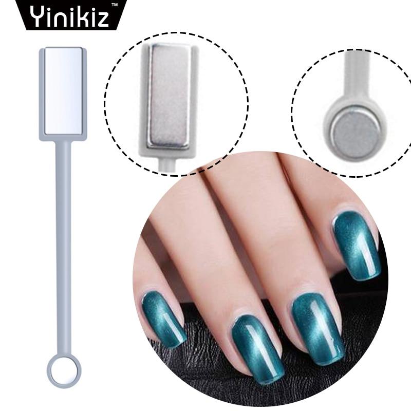 Yinikiz Dual End Replaceable Nail Art Magnet Stick Cat Eye Effect Uv ...